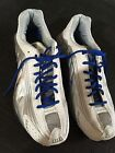 Gently USED Mens Size 12 Nike Shox Silver White  Blue 2