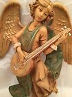Vintage Large Angel Lute Fontanini Nativity Scene 8 Spider Mark Depose Italy
