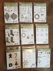 Stampin Up Christmas Halloween Retired Clear Stamp Bundles with Framelits