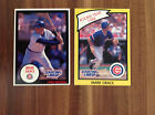 2 1990 Mark Grace Chicago Cubs Starting Lineup Cards