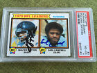 1979 Topps WALTER PAYTON EARL CAMPBELL RC Leaders card Auto Signed PSA DNA 4