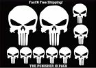 10 pack of Punisher Skull Vinyl Decal Window Stickers You Choose Color