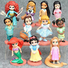 11 pcs set Disney Princess 3 Figures Cake Topper Collectible Toy Gift For Kids