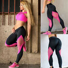 US Womens Sports Gym Yoga Workout Mesh Leggings Fitness Leotards Athletic Pants