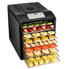 MAGIC MILL Food Dehydrator Bundle 9 Stainless Steel Drying Racks 8 Digital Pr...