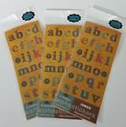 Patchwork Alphabet Letters Numbers Stickers 12 Sheets Lot Scrapbooking Craft