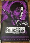 ROLLED MINT STREETS OF FIRE 1984 MICHAEL PARE DIANE LANE ONE SHEET MOVIE POSTER