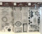 Heidi Grace CHRISTMAS QUOTES Holiday Sayings Acrylic Rubber Stamps Lot Set of 3