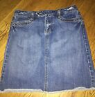 OLD NAVY LADIES JEAN Mini Skirt SIZE 2 Vintage Low Waist Blue Jean Dungaree EUC