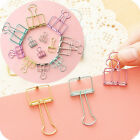 Mini Stationery File Paper Organizer Hollow Metal Binder Clips For Office Home