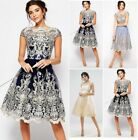 Women Luxury Lace Prom Formal Evening Cocktail Party Bridesmaid Ball Gowns Dress