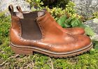Banana Republic Mens Tan Wing Tip Oxford Slip On Ankle Boots Size 11 M