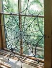 Victorian Trading Co Beaded Spider  Web Black Silver
