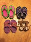 Lot Of Size 6 And 7 Toddler Girls Sandals Shoes Keen Teva Crocs