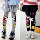 Kids Girl Baby Leggings Minnie Mouse Stretchy Cotton Skirt Pants Trousers 2 6Y