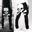 Casual Mens Jogger Skull Sportwear Baggy Harem Pants Slacks Trousers Sweatpant