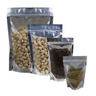 Variety of Sizes for Clear Silver Foil Shiny Stand up Zip Lock Bag 100PCS Pack