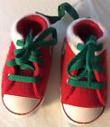 Cute Baby Converse First Star Holiday Shoes Red White Size 2 SO CUTE