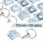 4 8 10 Pcs Motorcycle Race Fasteners Quick Release 1/4 Turn Fairing 17mm Chrome