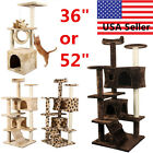 36 52 Cat Tree Tower Condo Furniture Scratch Post Kitty Pet House Play House