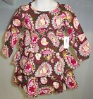 Old Navy toddler brown pink paisley print ruffle tiered fall dress NWT18 24M