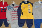 NWT Tommy Hilfiger Toddler Boys 2 Piece Hoodie Sweat Suits MSRP 45