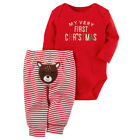 My 1st Christmas Newborn Baby Boy Girls Clothes Romper+Deer Pant Outfits Set US