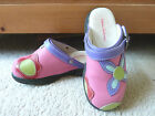 GIRLS HANNA ANDERSSON SHOES SWEEDISH CLOGS FLOWERS PINK SIZE 29 115 EUC