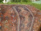 AMAZING  ANTIQUE PERSIAN 1900 SHIRAZ  RUG   , GREAT COLORS  5'10