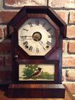 Working Seth Thomas 8 day cottage clock with alarm c1860s