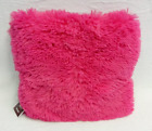 Hot Pink Soft Shaggy Cushion Throw Pillow 10 Colors