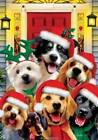 Christmas Dogs Selfie Garden Flag 12 x 18 Dbl Sided Holiday Pets