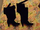 Jeffrey Campbell Black Suede Libby Boot Size 8