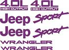 1997-2002 Jeep Wrangler Sport 4.0l Replacement Fender Decals Sticker Tj Output