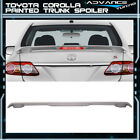 09 13 Corolla 4Dr LED Trunk Spoiler OEM Painted Match Classic Silver  1F7 ABS