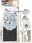 Tim Holtz Blossom Flowers Garden Clear Stamps Stencils Set Stampers Anonymous
