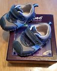 NIB New Pediped original navy grey shoes leather no slip 0 6 months baby boy