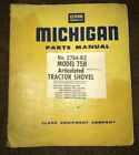 CLARK MICHIGAN  TRACTOR SHOVEL 75B PARTS MANUAL