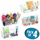 mDesign Craft Storage Organizer Caddy Tote, Portable Divided Basket Bin with Int