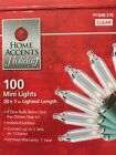 Home Accents Set of 100 Clear Mini Christmas Lights 25 Spacing Green Wire