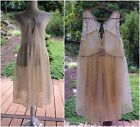 FREE PEOPLE Dress Slip L V Neck Ivory Lace NWT 128 Summer Fall layer piece