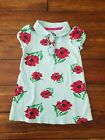 OLD NAVY 2T Toddler Girl Collared Blue Floral Dress Cap Sleeve