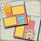 Cute Beach 2 Premade Scrapbook Pages EZ Layout 2186