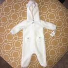 Carters Baby Girl Infant Winter Suit Snow One Piece Hooded White 6 Months