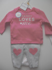 NEW nwt Baby Girl outfit Carters Shirt Bodysuit Pants Daddy Pink nb newborn