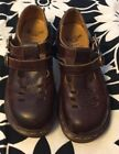 Vintage Dr Doc Martens Women Brown Leather Mary Jane Made In England UK 4 US 6