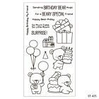 Birthday Bear Clear Stamps For DIY Scrapbooking Decor Card Making Supplies Craft