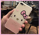 Auction New Cute Hello Kitty Face Case Silicon Soft Thin Cover For IPhone 7 plus