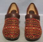 Womens Softspots Larissa II Chocolate Multi Color Wool Clogs Shoes Size 8W