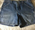 Tommy Hilfiger Jean Shorts Womens Size 12 Carpenter Distressed VINTAGE
